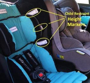 child restraint height markers