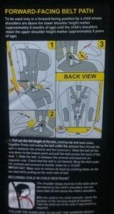 safety 1st sentry seat belt path
