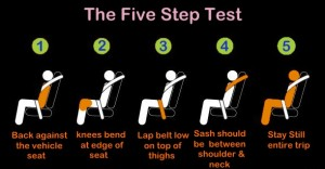 Booster seat - 5 step test